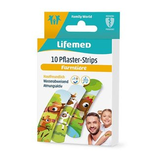 10 Lifemed Pflaster-Strips 6,0 cm x 1,7 cm Farmtiere