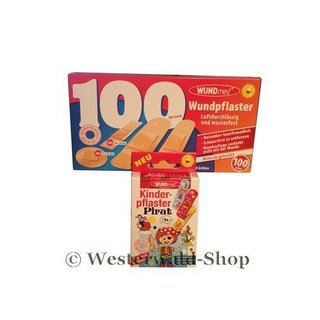 Wundmed Set Wundpflaster 100 + Kinderpflaster Pirat
