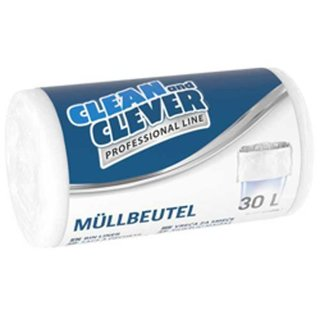 Müllbeutel Professional Line Clean and Clever 30L weiß PRO 73